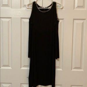 Ladies cold shoulder dress